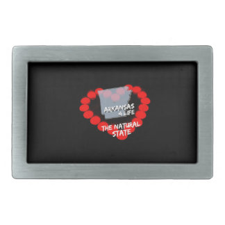 Candle Heart Design For The State of Arkansas Belt Buckles