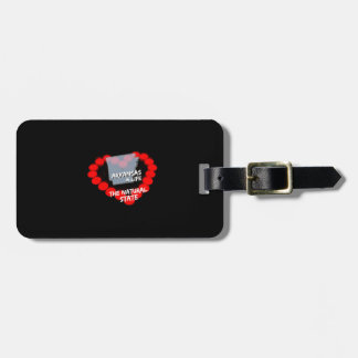 Candle Heart Design For The State of Arkansas Luggage Tag