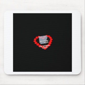 Candle Heart Design For The State of Arkansas Mouse Pad