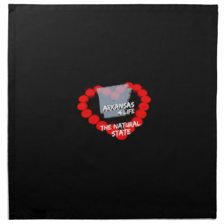 Candle Heart Design For The State of Arkansas Napkin