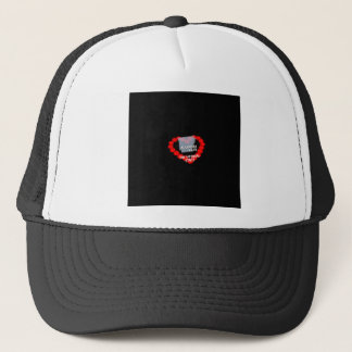 Candle Heart Design For The State of Arkansas Trucker Hat