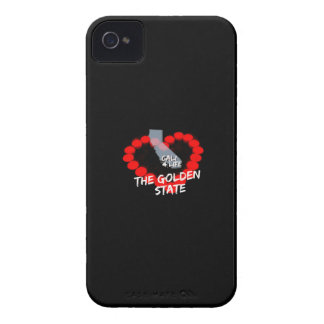 Candle Heart Design For The State of California iPhone 4 Covers