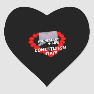 Candle Heart Design For The State of Connecticut Heart Sticker