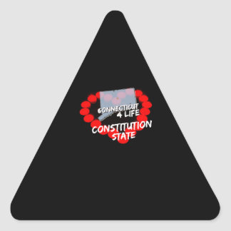Candle Heart Design For The State of Connecticut Triangle Sticker