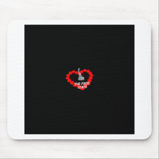 Candle Heart Design For The State of Delaware Mouse Pad
