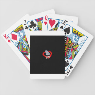 Candle Heart Design For The State of Georgia Bicycle Playing Cards