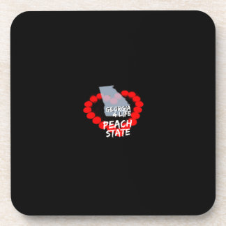Candle Heart Design For The State of Georgia Coaster