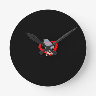 Candle Heart Design For The State of Georgia Round Clock