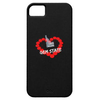 Candle Heart Design For The State of Idaho Barely There iPhone 5 Case