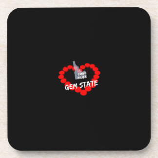 Candle Heart Design For The State of Idaho Coaster
