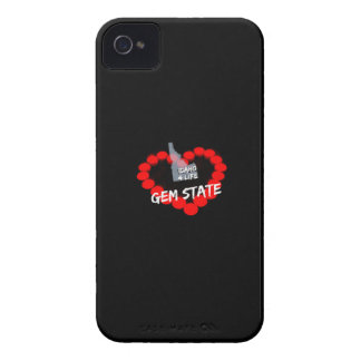 Candle Heart Design For The State of Idaho iPhone 4 Covers