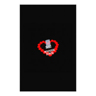 Candle Heart Design For The State of Indiana Customized Stationery