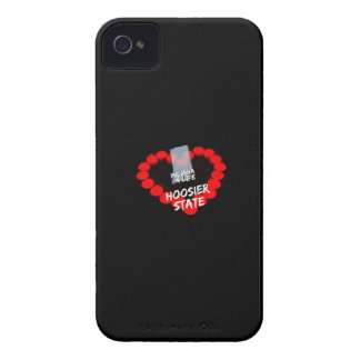 Candle Heart Design For The State of Indiana iPhone 4 Case