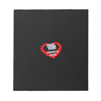 Candle Heart Design For The State of Iowa Notepad