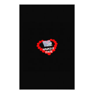 Candle Heart Design For The State of Iowa Personalised Stationery