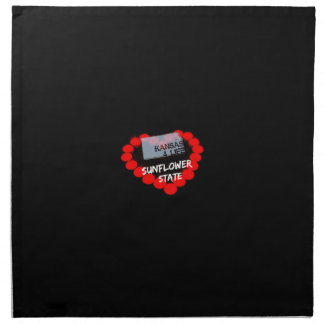 Candle Heart Design For The State of Kansas Napkin