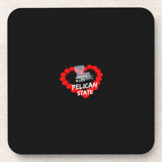 Candle Heart Design For The State of Louisiana Coaster