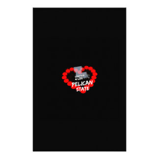 Candle Heart Design For The State of Louisiana Custom Stationery