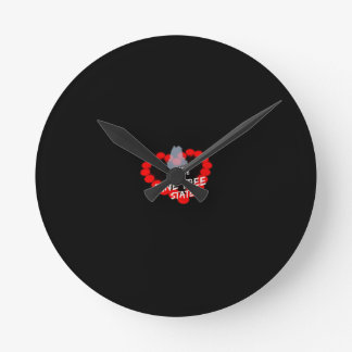 Candle Heart Design For The State of Maine Round Clock
