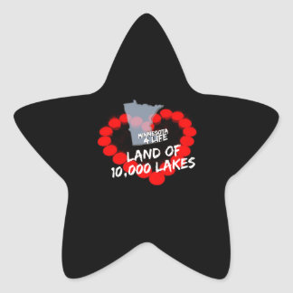Candle Heart Design For The State of Minnesota Star Sticker