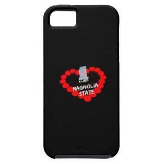 Candle Heart Design For The State of Mississippi iPhone 5 Case