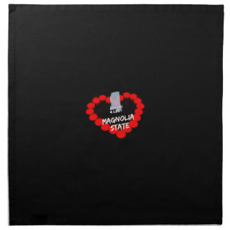 Candle Heart Design For The State of Mississippi Napkin