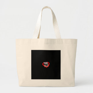 Candle Heart Design For The State of Montana Large Tote Bag