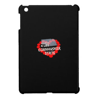 Candle Heart Design For The State of Nebraska iPad Mini Covers