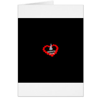 Candle Heart Design For The State of New Hampshire Card