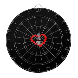 Candle Heart Design For The State of New Jersey Dartboard