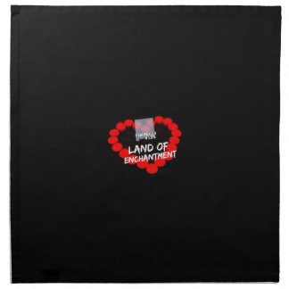 Candle Heart Design For The State of New Mexico Napkin