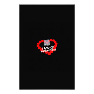 Candle Heart Design For The State of New Mexico Stationery Design