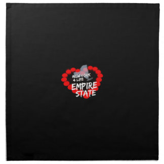 Candle Heart Design For The State of New York Napkin