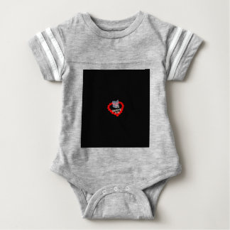 Candle Heart Design For The State Of Ohio Baby Bodysuit