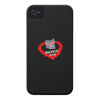 Candle Heart Design For The State Of Ohio iPhone 4 Covers