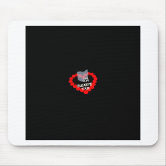 Candle Heart Design For The State Of Ohio Mouse Pad
