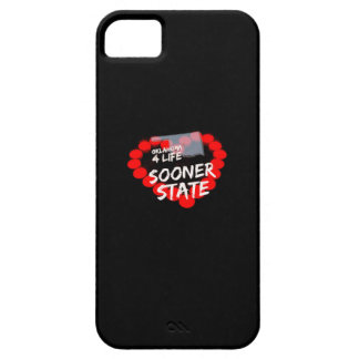 Candle Heart Design For The State Of Oklahoma iPhone 5 Case