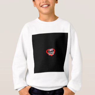 Candle Heart Design For The State Of Oklahoma Sweatshirt