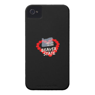 Candle Heart Design For The State of Oregon iPhone 4 Covers