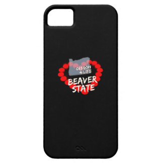 Candle Heart Design For The State of Oregon iPhone 5 Cover