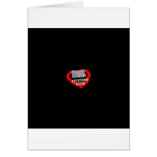 Candle Heart Design For The State of Pennsylvania Card
