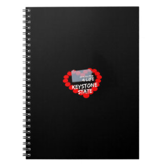 Candle Heart Design For The State of Pennsylvania Notebooks