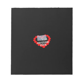 Candle Heart Design For The State of Pennsylvania Notepad