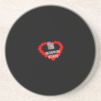 Candle Heart Design For The State of Utah Coaster