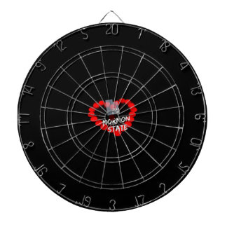 Candle Heart Design For The State of Utah Dartboard