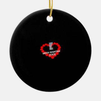 Candle Heart Design For The State of Vermont Ceramic Ornament