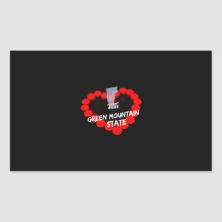 Candle Heart Design For The State of Vermont Rectangular Sticker