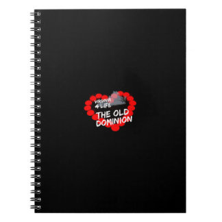 Candle Heart Design For The State of Virginia Notebooks