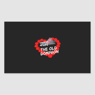 Candle Heart Design For The State of Virginia Rectangular Sticker