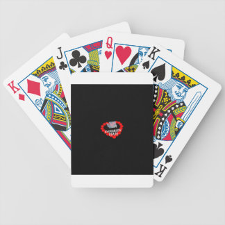 Candle Heart Design For The State of Washington Bicycle Playing Cards